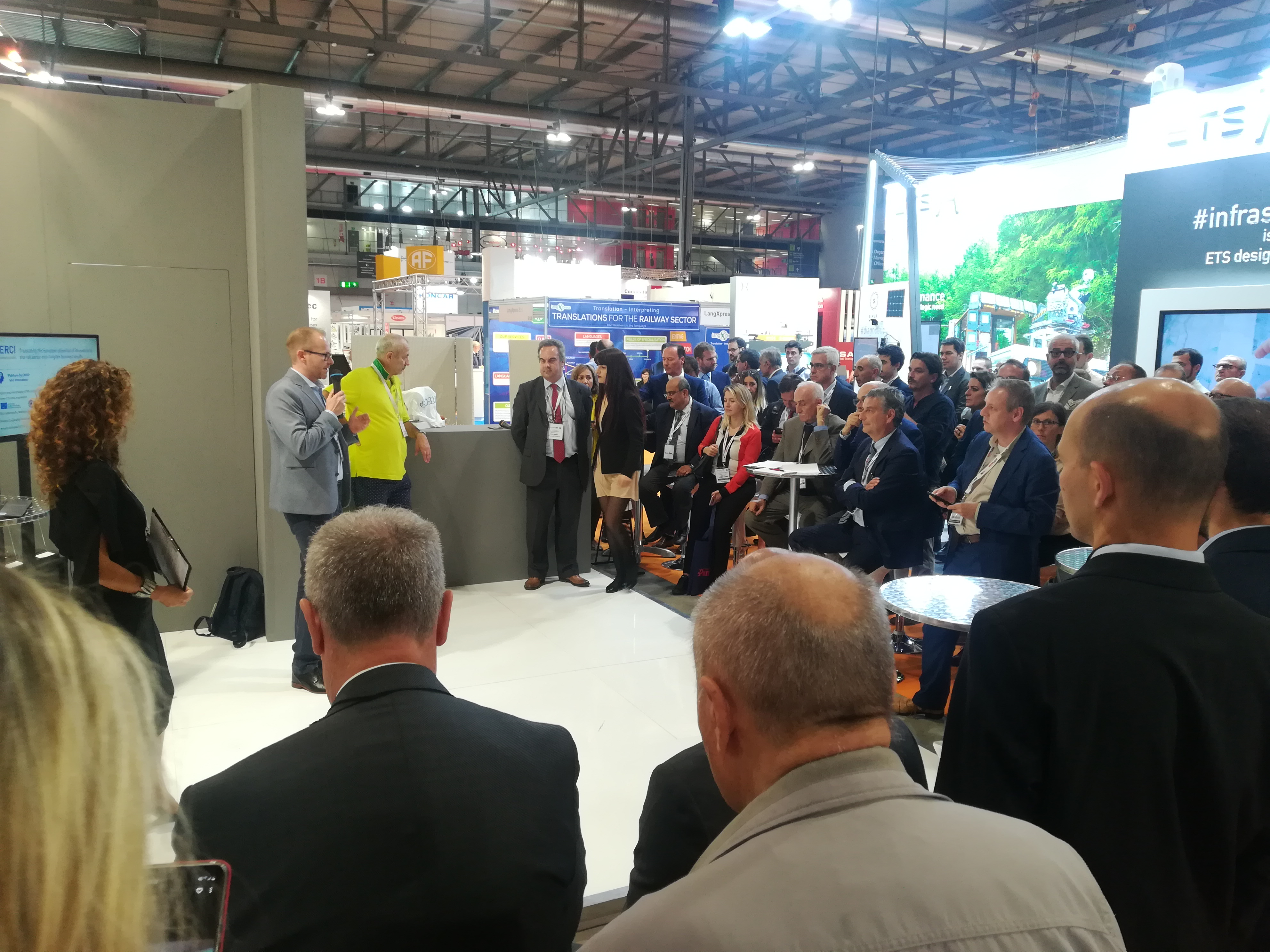 "The ceremony of the ""ERCI Innovation Awards 2019"" at EXPO Ferroviaria 2019 in Milano"